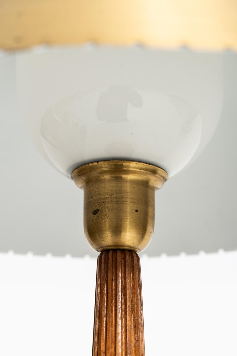 Brass Hans Bergström table lamp produced by ASEA in Sweden For Sale