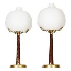 Hans Bergström Table Lamps Model 700 Produced by Ateljé Lyktan in Åhus, Sweden