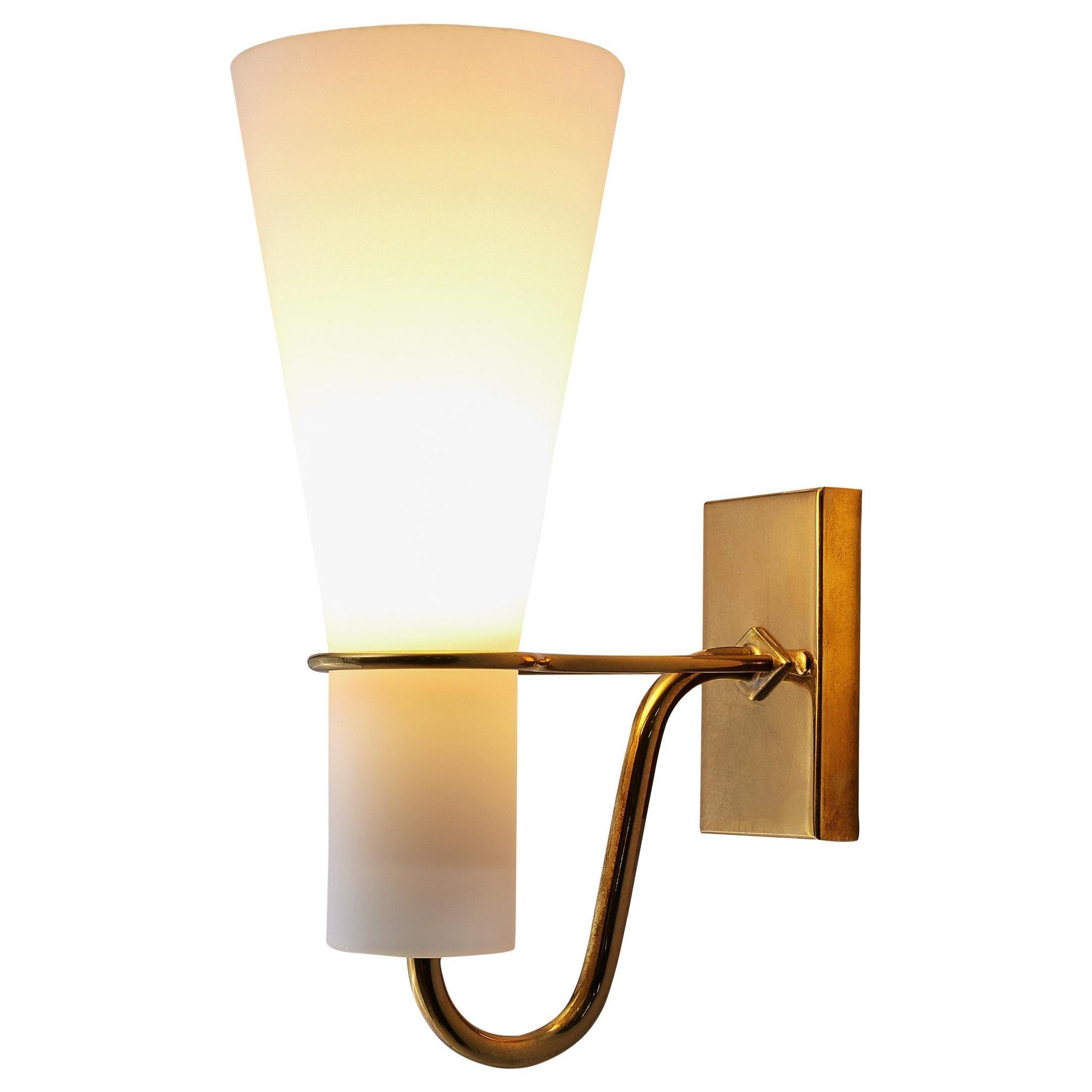 Hans Bergström Wall Light for ASEA Belysning with Brass