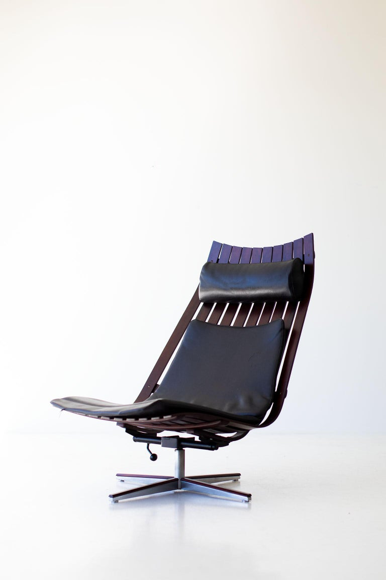 Hans Brattrud Rosewood Lounge Chair for Hove Mobler For Sale 4