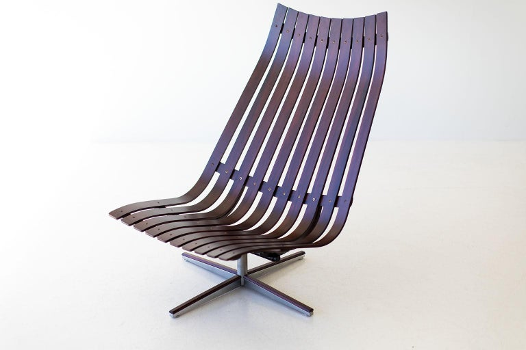 Hans Brattrud Rosewood Lounge Chair for Hove Mobler In Good Condition For Sale In Oak Harbor, OH