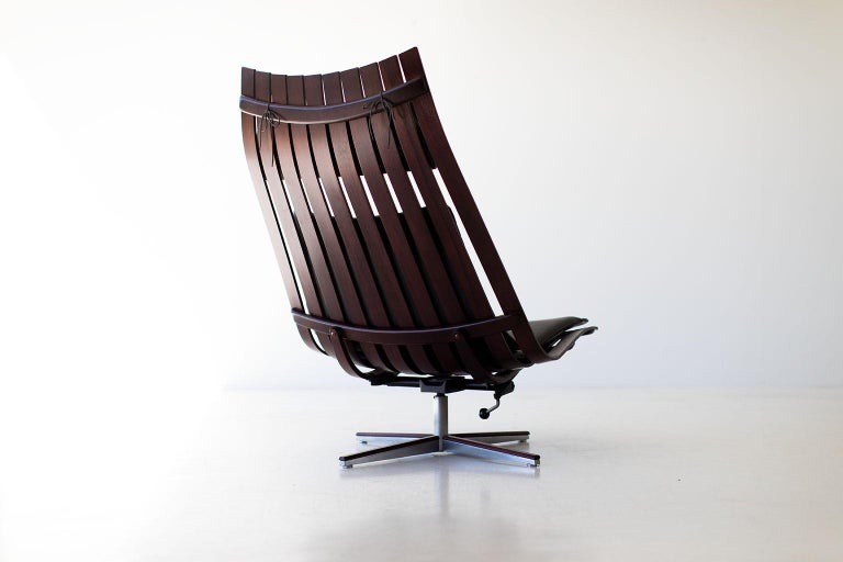 Hans Brattrud Rosewood Lounge Chair for Hove Mobler For Sale 2