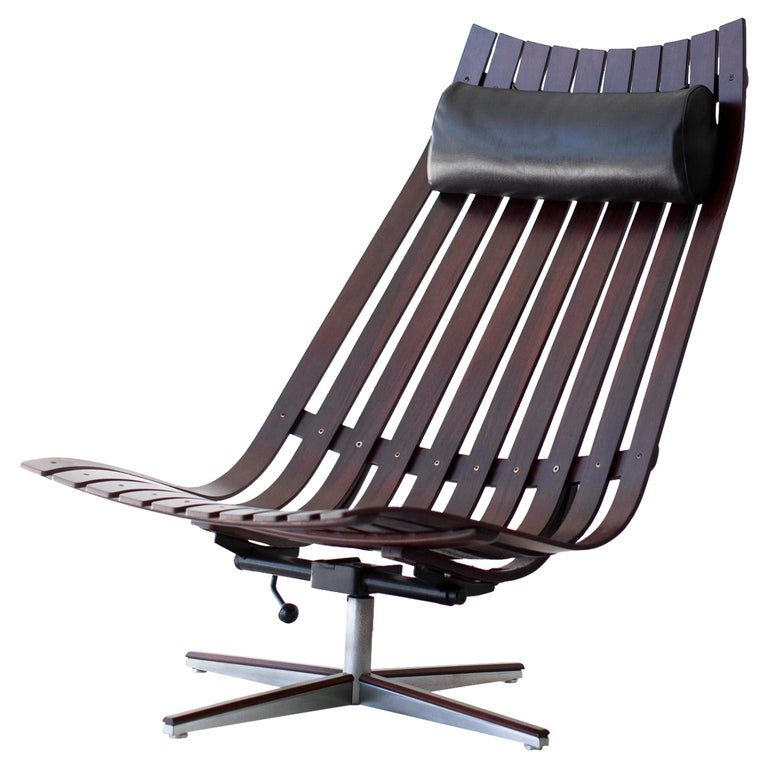 Hans Brattrud Rosewood Lounge Chair for Hove Mobler For Sale