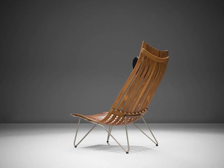 Scandinavian Modern Hans Brattrud 'Scandia' Chair in Rosewood