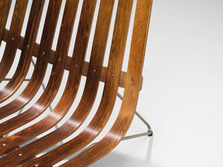 Hans Brattrud 'Scandia' Chair in Rosewood In Good Condition In Waalwijk, NL