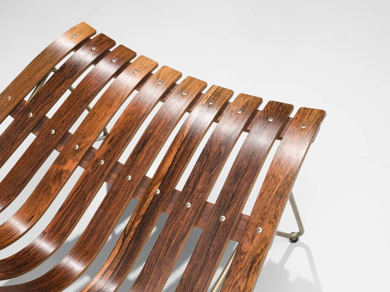 Metal Hans Brattrud 'Scandia' Chair in Rosewood