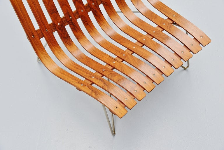 Norwegian Hans Brattrud Scandia Lounge Chair Hove Mobler Norway, 1957 For Sale