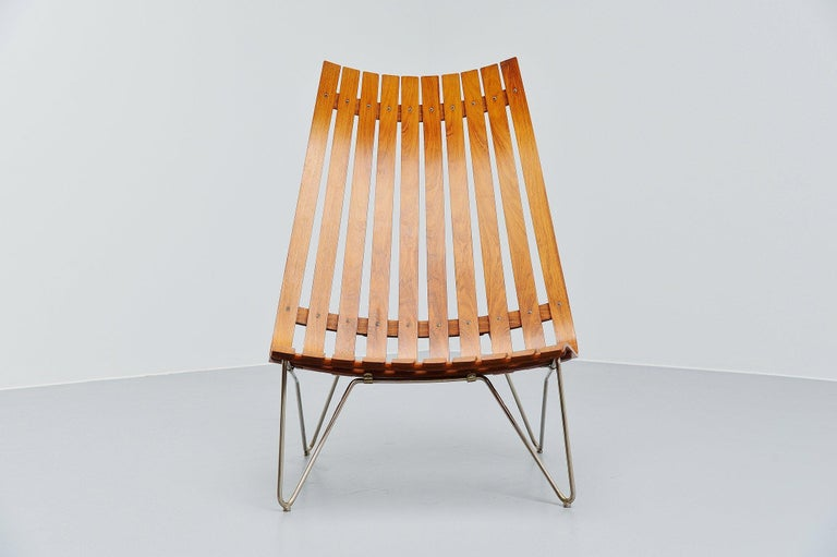 Mid-20th Century Hans Brattrud Scandia Lounge Chair Hove Mobler Norway, 1957 For Sale