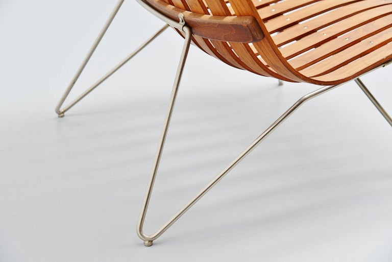 Hans Brattrud Scandia Lounge Chair Hove Mobler Norway, 1957 For Sale 1