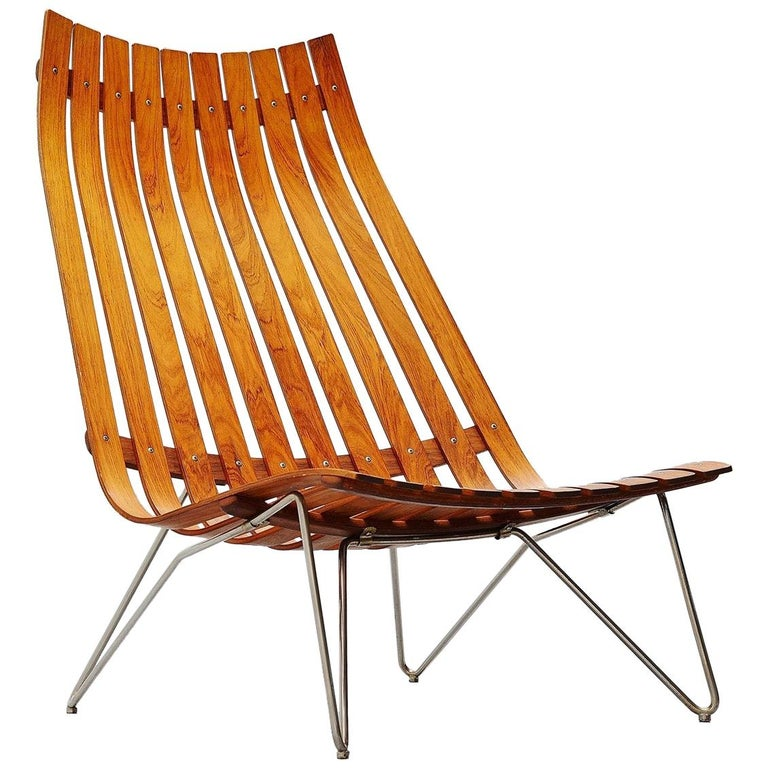 Hans Brattrud Scandia Lounge Chair Hove Mobler Norway, 1957 For Sale