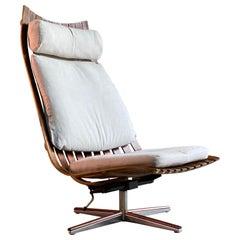 Hans Brattrud Scandia Rosewood Lounge Chair by Georg Eknes, Norway, circa 1970