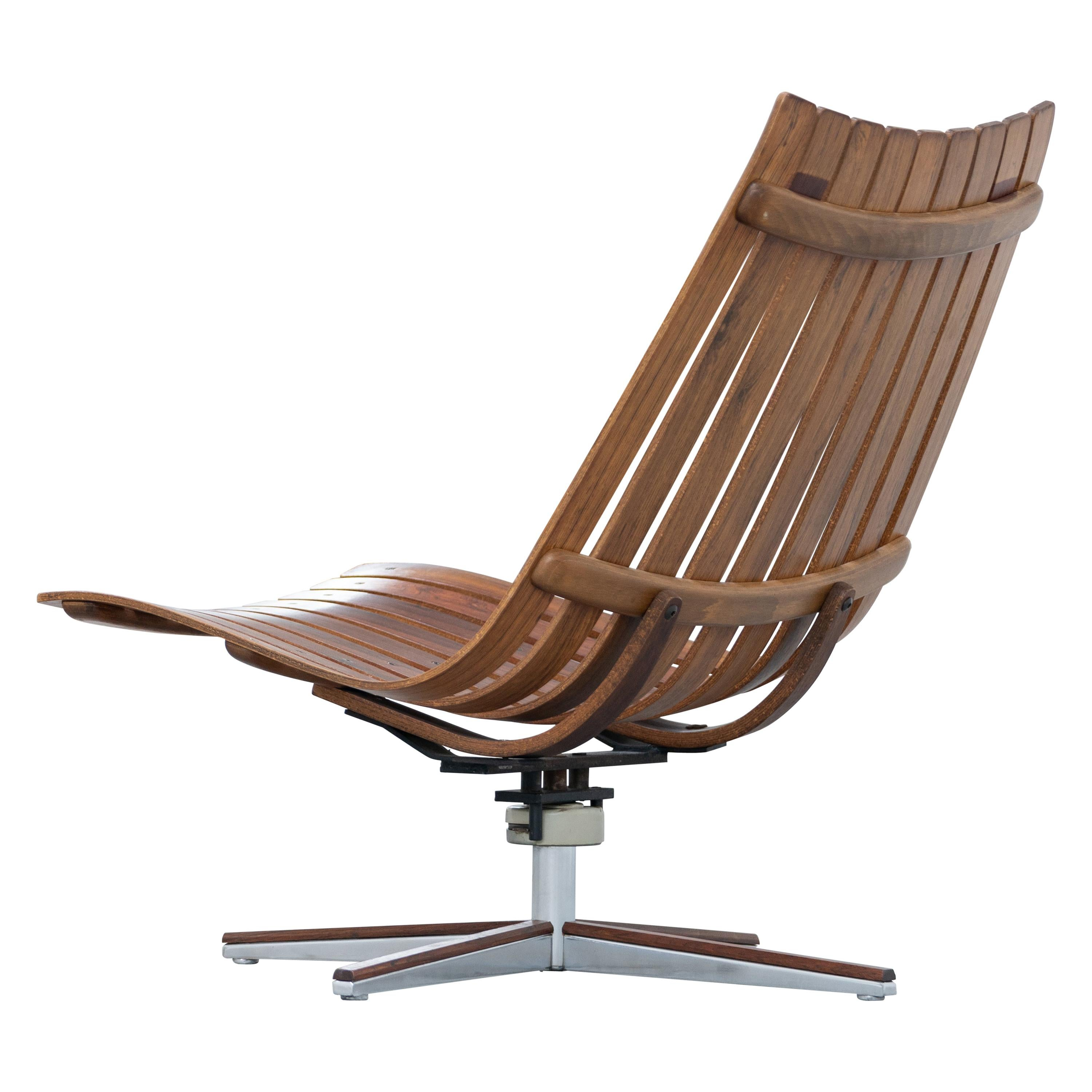 Hans Brattrud, Scandia Swivel Lounge Chair, 1957 for Hove Møbler, Norway