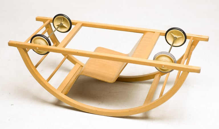 Rocking car designed by Hans Brockhage, produced by Siegfried Lenz. Purchased from the first owner.