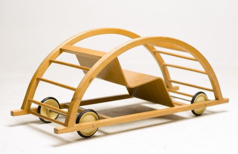 German Hans Brockhage Childs Rocking and Race Car For Sale