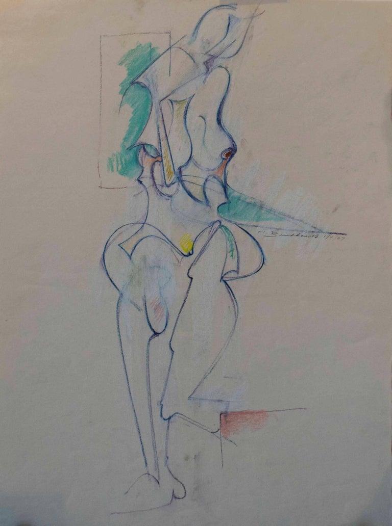 Hans Burkhardt Figurative Painting - The Model