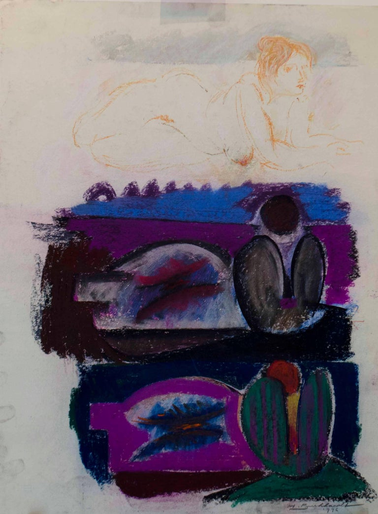 Hans Burkhardt Figurative Painting - Trio