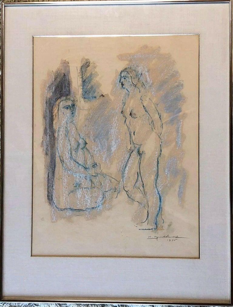 Two Models - Art by Hans Burkhardt