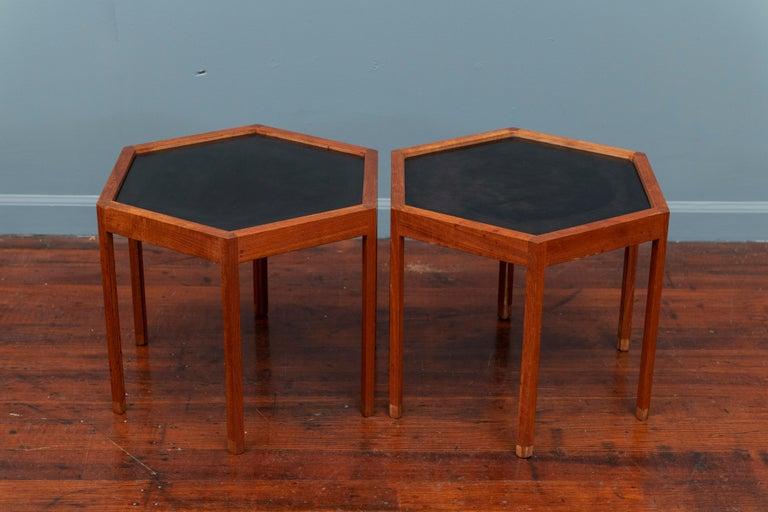 Scandinavian Modern Hans C Andersen Hexagonal Side Tables For Sale