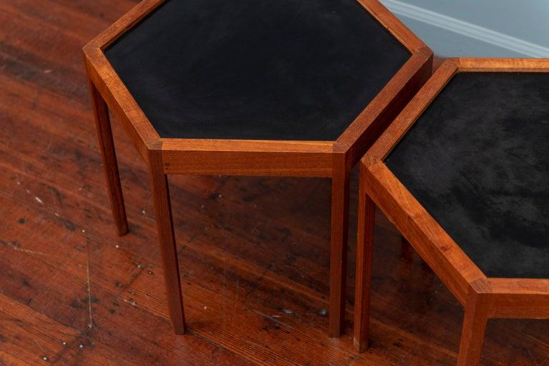 Danish Hans C Andersen Hexagonal Side Tables For Sale