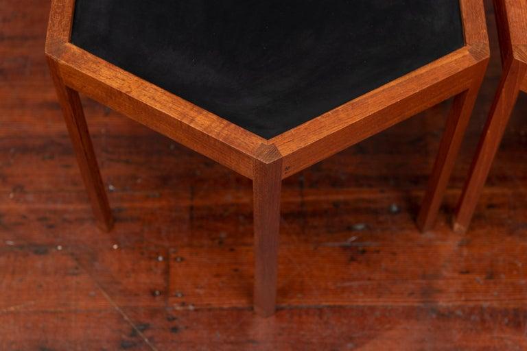 Hans C Andersen Hexagonal Side Tables In Good Condition For Sale In San Francisco, CA