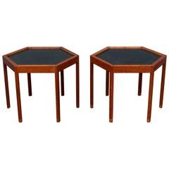 Hans C Andersen Hexagonal Side Tables