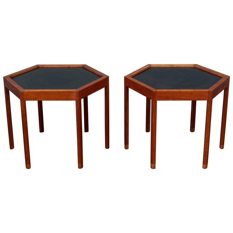Hans C Andersen Hexagonal Side Tables For Sale