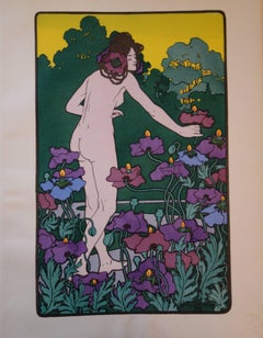 Woman in the Poppies - Original lithograph (1897/98)