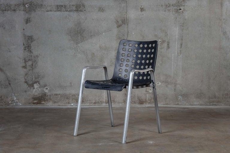 Hans Coray (1906-1991) for P&W Blattmann Melallwaren-Fabrik 'Landi' chair, Switzerland, 1939, in aluminum, 1st Edition  Measures: Arm 21