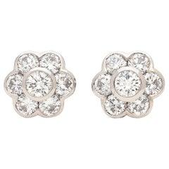 Hans D. Kreiger Diamond Stud Earrings