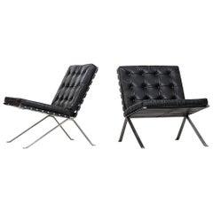 Hans Eichenberger Easy Chairs by Girsberger in Switzerland