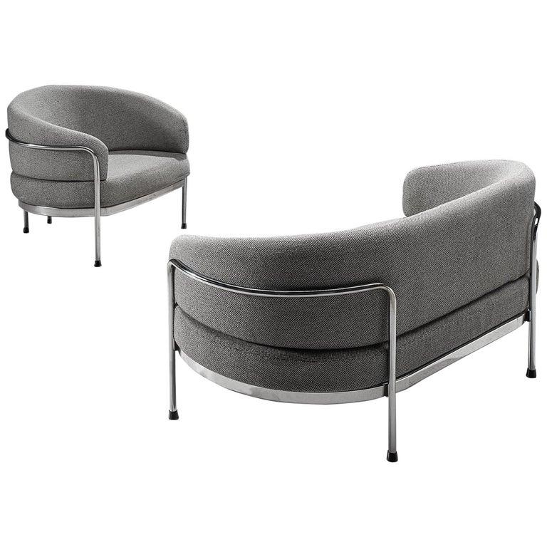 Hans Ell For 'T Spectrum Grey Living Room Set For Sale At