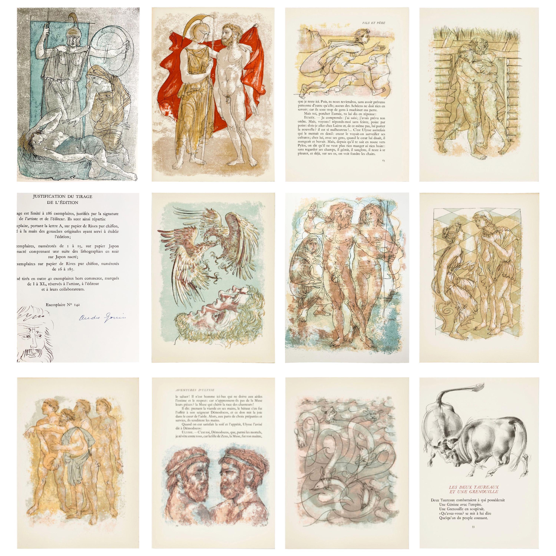 Hans Erni Odyssée, Fables Color Lithograph Portfolios 1955-1957 Lausanne, France