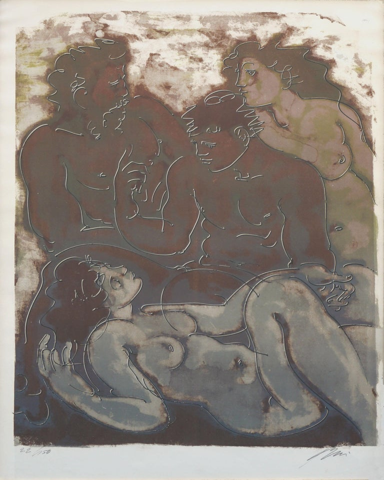 The Conversation Lithograph Greek Myth For Sale 1