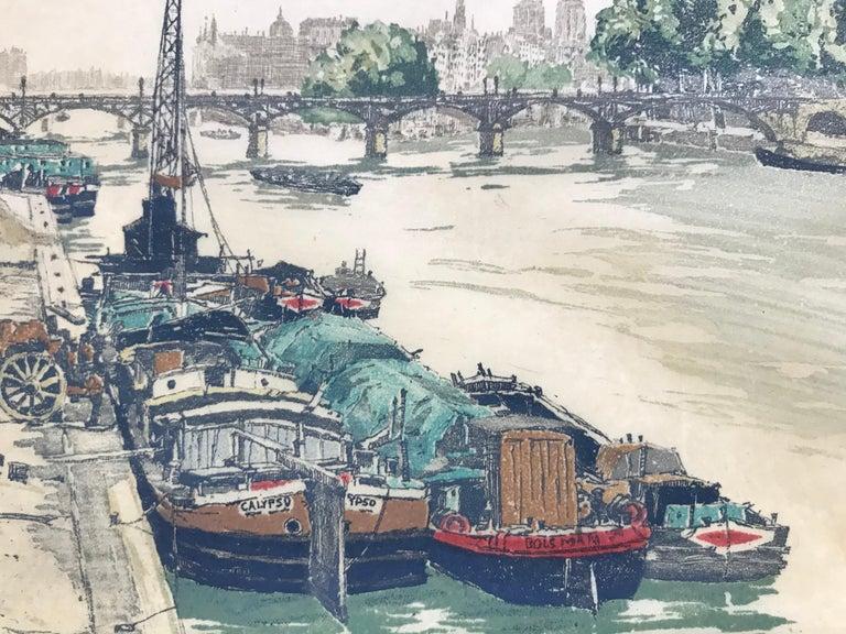 """On the Seine, Paris"" - Print by Hans Figura"