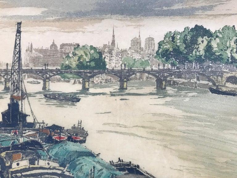 """On the Seine, Paris"" - Academic Print by Hans Figura"