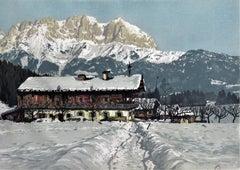 Peak of Wilder Kaiser, Kitzbuhelhom, Tyrol Alps
