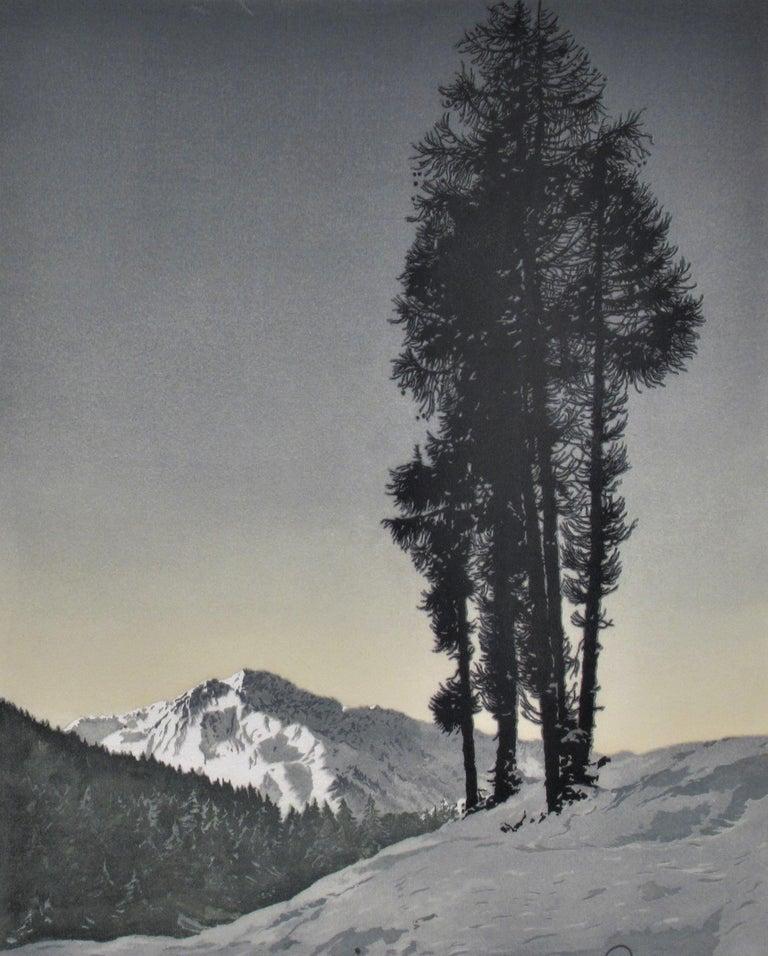 Winter Landscape - Print by Hans Figura