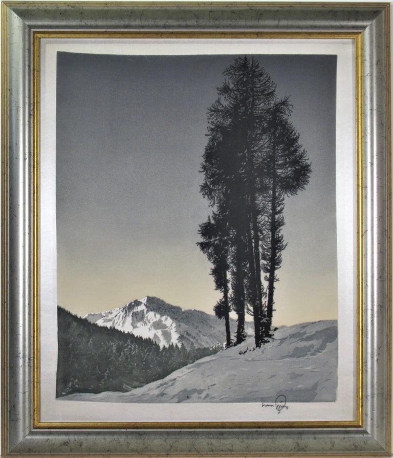 Hans Figura Landscape Print - Winter Landscape