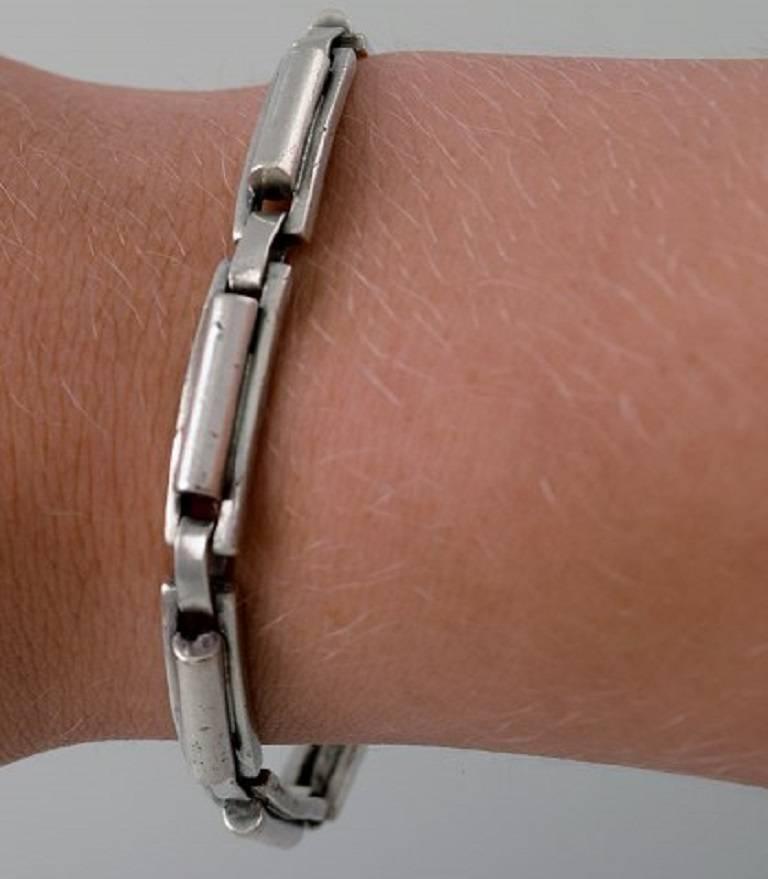 Modern Hans Hansen Bracelet of Sterling Silver Denmark For Sale