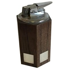 Hans Hansen Rosewood and Sterling Silver Hexagonal Lighter