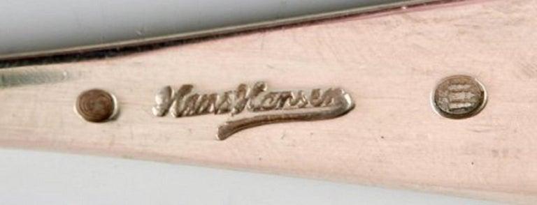 Danish Hans Hansen Silverware Number 9, Tea Spoon in Silver For Sale