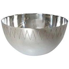 Hans Hansen Sterling Silver Bowl Designed by Karl Gustav Hansen No 480