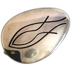Hans Hansen Sterling Silver Brooch No 112