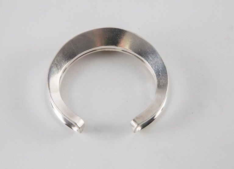 Hans Hansen Sterling Silver Cuff For Sale 1