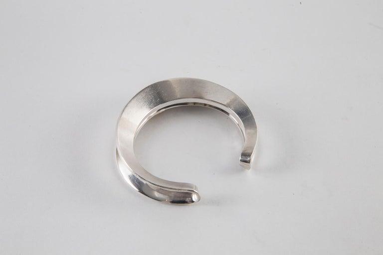 Hans Hansen Sterling Silver Cuff For Sale 2