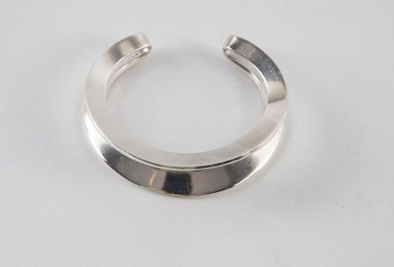 Hans Hansen Sterling Silver Cuff For Sale 3