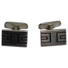 Hans Hansen Sterling Silver Cuff Links Weight is 22.09 Grams / 0.78 oz Measure