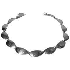 Hans Hansen Sterling Silver Necklace, Denmark, circa 1968