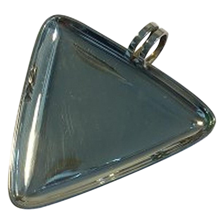 Hans Hansen Sterling Silver Triangular Dish