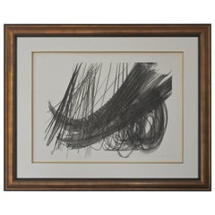 Hans Hartung Framed Abstract Lithograph, Pencil Signed, 1970s